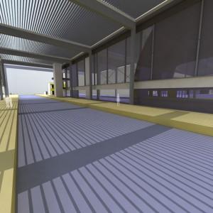 La voûte au dessus des quais à la gare de Djelfa