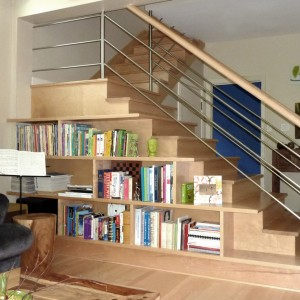 Le biblio-escalier sur la rue Saint-Charles