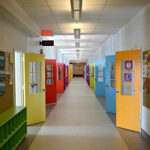 La rénovation complète des couloirs à l'aile Dollard