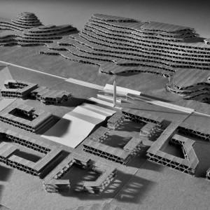 La maquette d'étude pour la gare de Laghouat