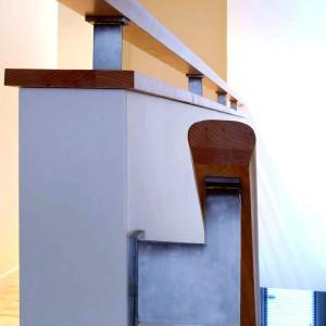 La main courante et la balustrade à l'étage, rue Brulart à Sillery