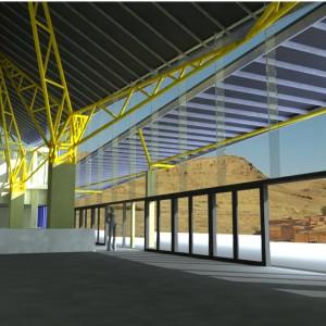 La salle des pas perdus à la gare de Laghouat